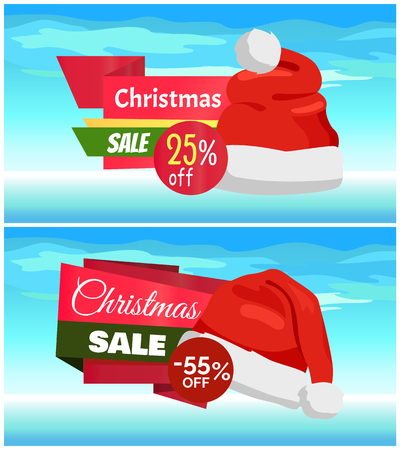 Christmas Sale flyer template Stok Fotoğraf - 94353543