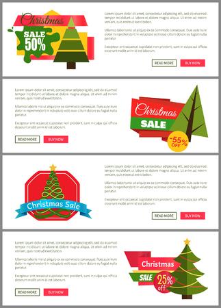 크리스마스 판매 전단지 템플릿 일러스트