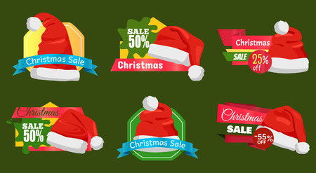 50 Percent Off Christmas Sale Promotion Cards