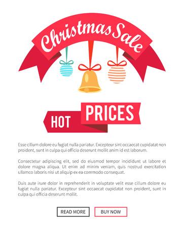 귀여운 가격의 크리스마스 판매 포스터 일러스트