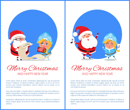 Merry Christmas Help of Santa Vector Illustration Stock Vector - 94526790