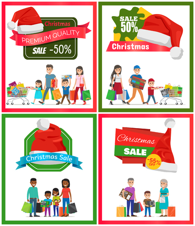 Four Christmas Sale Posters