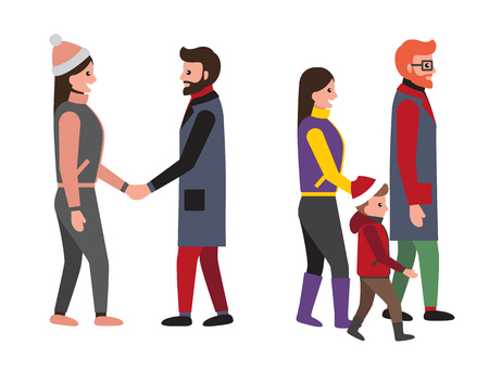 Family and Friends People Set Vector Illustration Illustration