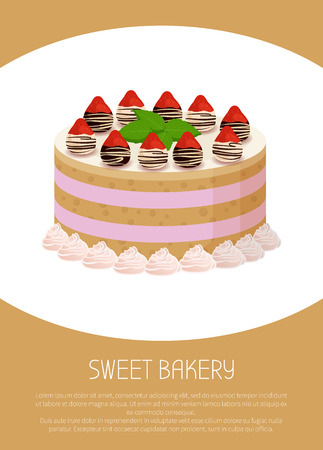Tasty Cake with Sweet Liquid Glaze Between Corns