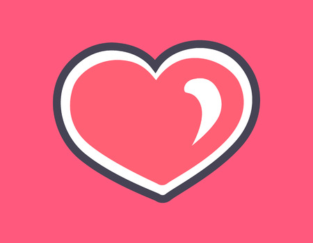Sparkling pink heart love symbol icon vector illustration with pretty template of hearts with black and white framing white reflection isolated on pink