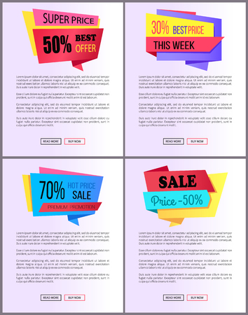 Sale Special Offer Order Buy Now Web Poster Vector Stock Vector - 95373364