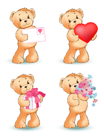 Teddy Bear Collection of Objects Vector
