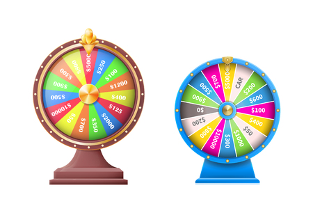 Wheel of Luck vector template  イラスト・ベクター素材