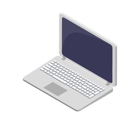 Modern Laptop Electronic Device Vector Symbol
