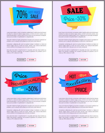 Sale Special Offer Order Buy Now Web Poster Vector Illustration