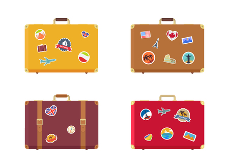 Time to Travel Suitcase with Magnets Souvenirs