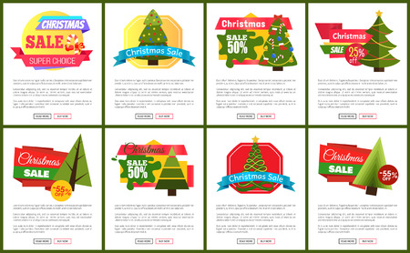 Set of Christmas Sale Hot Price 50 Off Posters