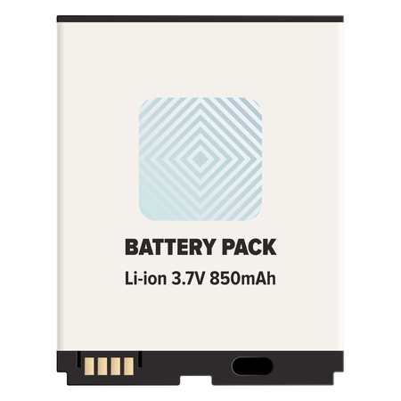 Battery Pack Li-ion or Lithium-ion Isolated White Reklamní fotografie - 95813574