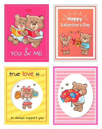 Happy Valentines Day to You and Me, True Love Set