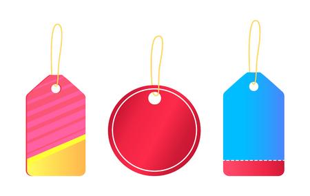 Hangende lege stickers met plaats voor tekstvector