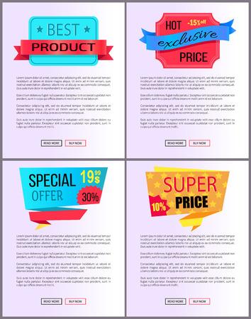 Sale Special Offer Order Buy Now Web Poster Vector Illustration