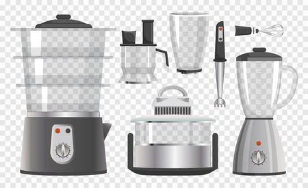 Verschillende keukeninstrumenten vectorillustratie Stock Illustratie