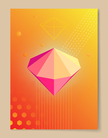 Pink Diamond on Poster with Gradient background