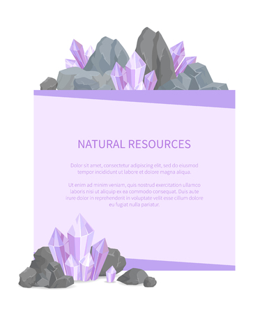 Natural Resources Poster with Precious Stone Promo