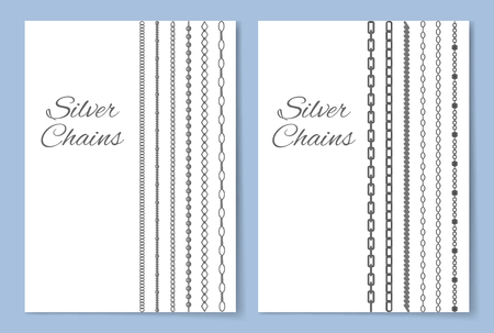 Shiny Silver Chains Vertical Advertisement Banner