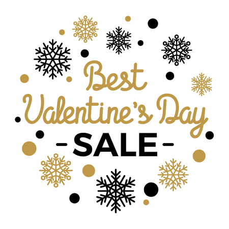 Best Valentines Day Sale Elegant Vector Concept Çizim