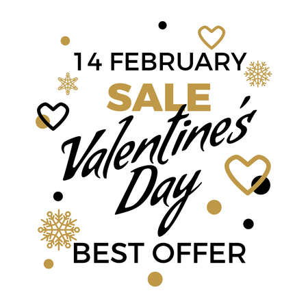 Best Offer on Valentines Day Sale Vector Concept Reklamní fotografie - 96361231