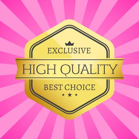 etiqueta de oro de alta calidad de alta calidad exclusiva