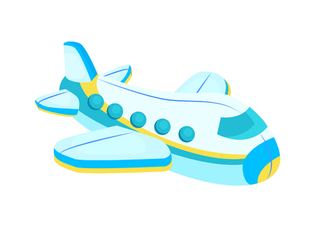 Plane with Windows Toy Icon Vector Illustration.