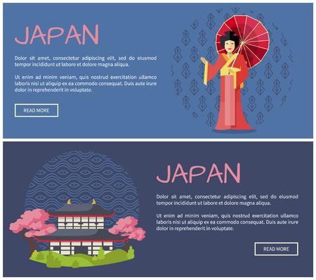 Japan Promotional Internet Pages Templates Set.