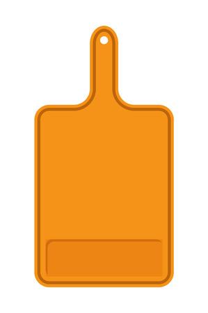 Orange Cutting Board Banner Vector Illustration