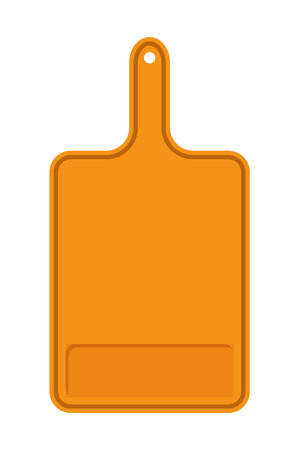 Orange Cutting Board Banner Vector Illustration