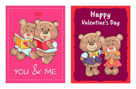 Valentines Day poster design set