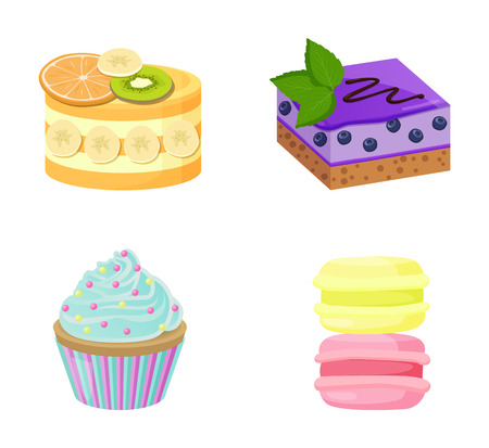 Set of Cute Cakes