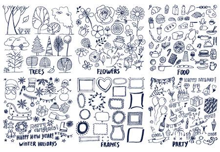 Ensemble de divers modèles de conception ensemble Banque d'images - 96198607
