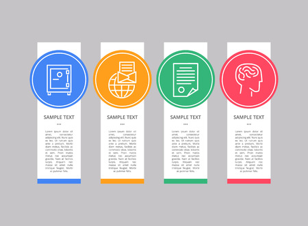 Infographic Object Text Sample Vector Illustration set