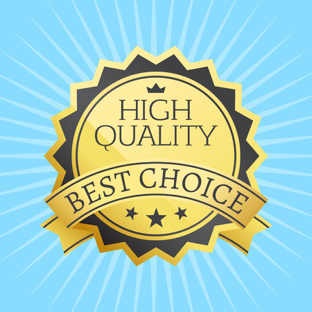 High Quality Best Choice Stamp Golden Label vector illustration