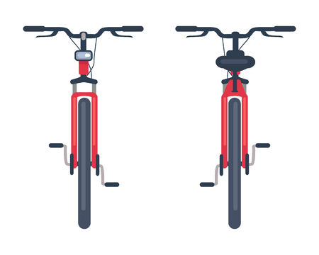 Bike with Pedals and Rudder Front View, Bicycle
