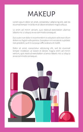 Makeup Tools and Decorative Elements Promo Poster