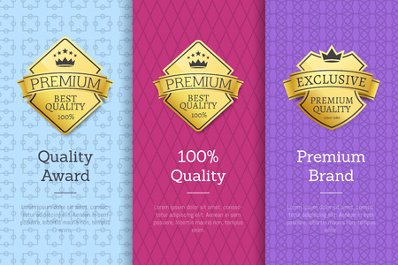 Quality Award Premium Brand Guarantee Certificates