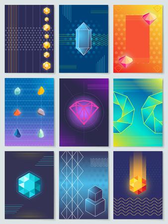 ダイヤモンドと石コレクションベクターイラスト