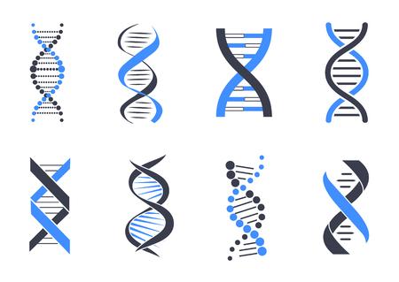 Zestaw wzorów helisy DNA