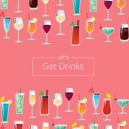 Letâ ? ? s drankenkaart met cocktails en champagne