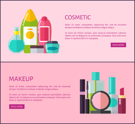 Cosmetic and Makeup Means Internet Promo Pages