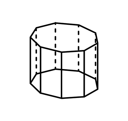 Pentagrammic Prism Geometric Figure of Black Color
