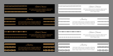 Gold and Silver Chains Jewelry Vector Illustration