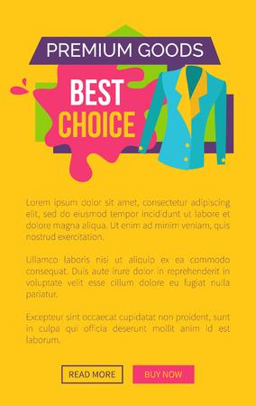 Premium Goods Best Choice Promo Poster Push Button