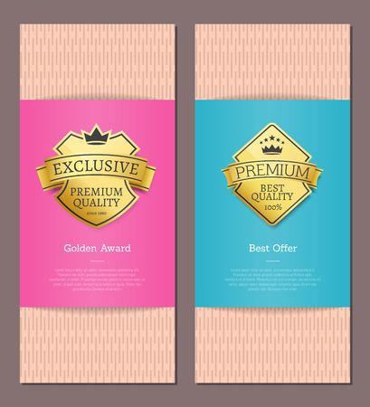 Golden Award Best Offer Guarantee Exclusive Label