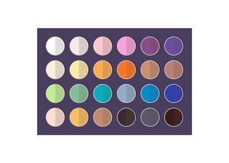 Bright and Dark Eyeshadows Big Colorful Palette