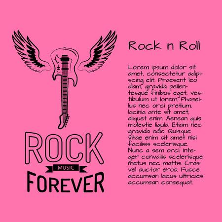 Rock n Roll Music Forever poster design