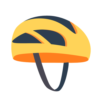 Cute Bright Helmet Template Vector Illustration